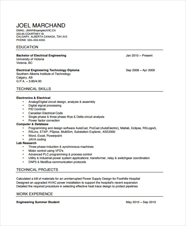 sample electrician resume template 7 free documents download in pdf