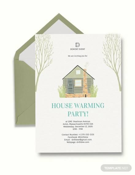 amazing housewarming invitation