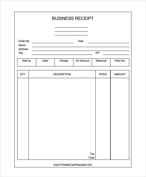 Sample Receipt Templates 28 Free Documents Download In