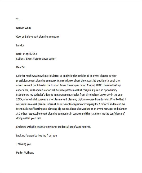 Volunteer Coordinator Resume Tips. events coordinator cover letter ...
