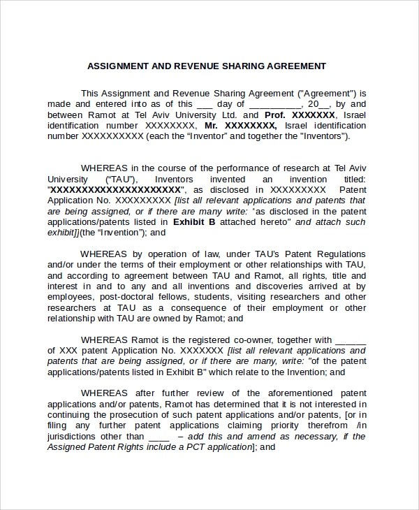 Sample Assignment Agreement Template 9 Free Documents Download In PDF Word