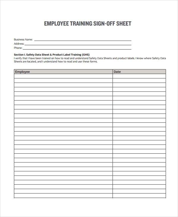 Sample Sign In Sheets SergeantS Time Training Memorandum