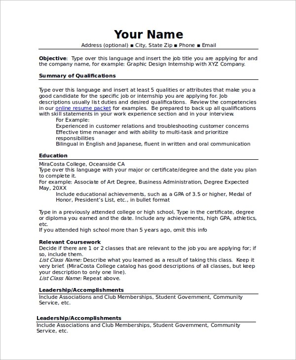 Combination Resume The Template Format And Examples