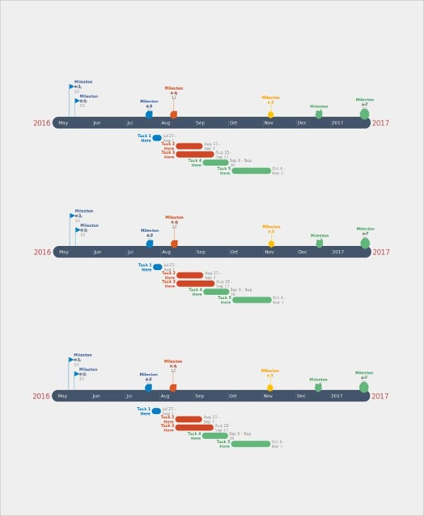 21  Sample Timelines   Sample Templates Powerpoint Timeline Template