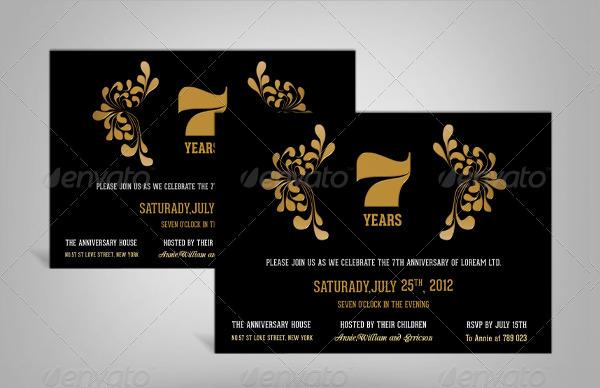 sample anniversary invitation templates