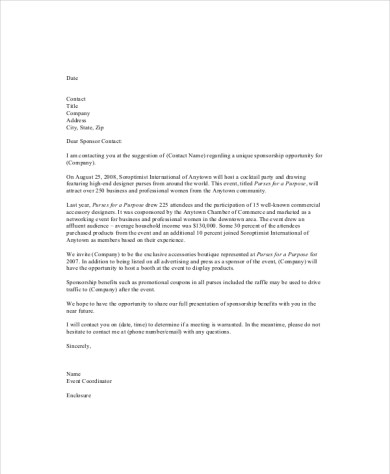 proposal letter for an event