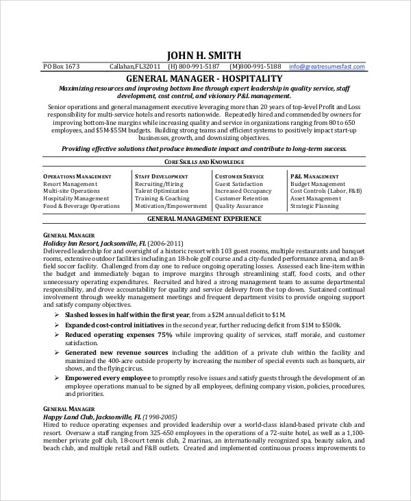 Job Objective Resume General. Objective For General Resumes