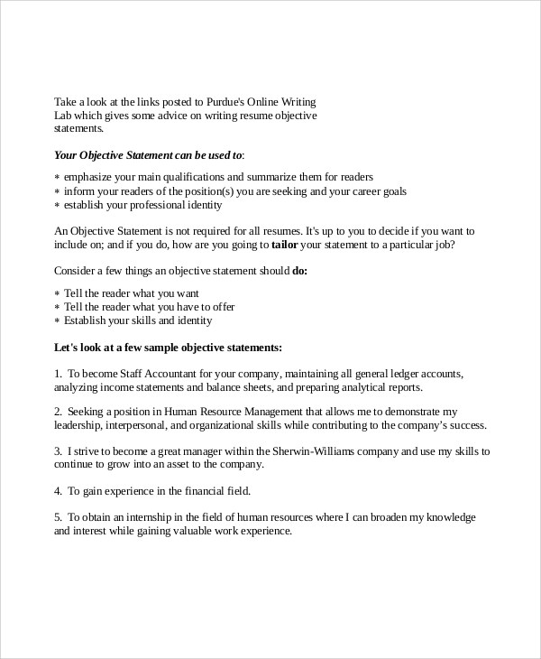 Resume Work Objective Statements. Waitress Resume Objectives For