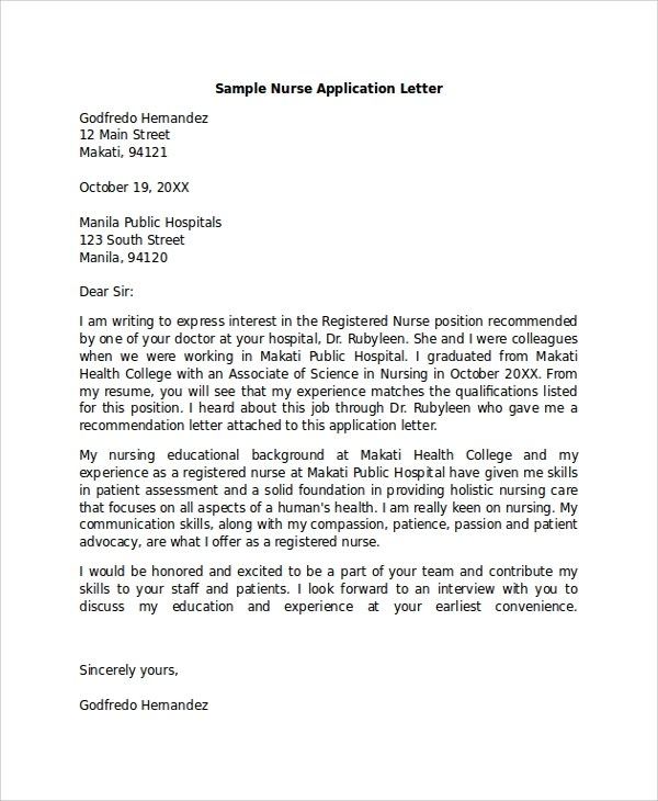 Lpn Cover Letter Samples | Experienced Lpn Cover Letter Samples