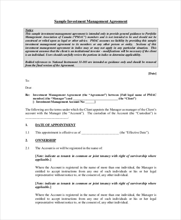 simple investment contract template free printable documents 13 – Simple Investment Contract