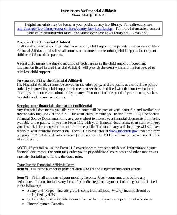 Child support affidavit samples asafonec child support affidavit samples altavistaventures Choice Image