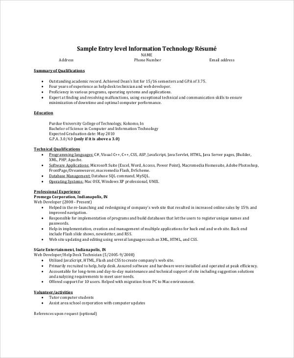 Free 8 Resume Summary Samples In Pdf