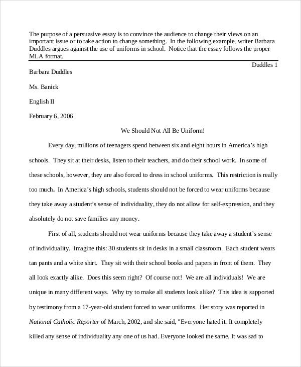 Sample Argumentative Essay For Highschool Students | Docoments ...