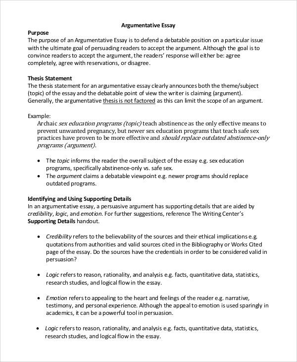 argumentative essay example argumentative essay topics for argument essay samples persuasive essay template 9