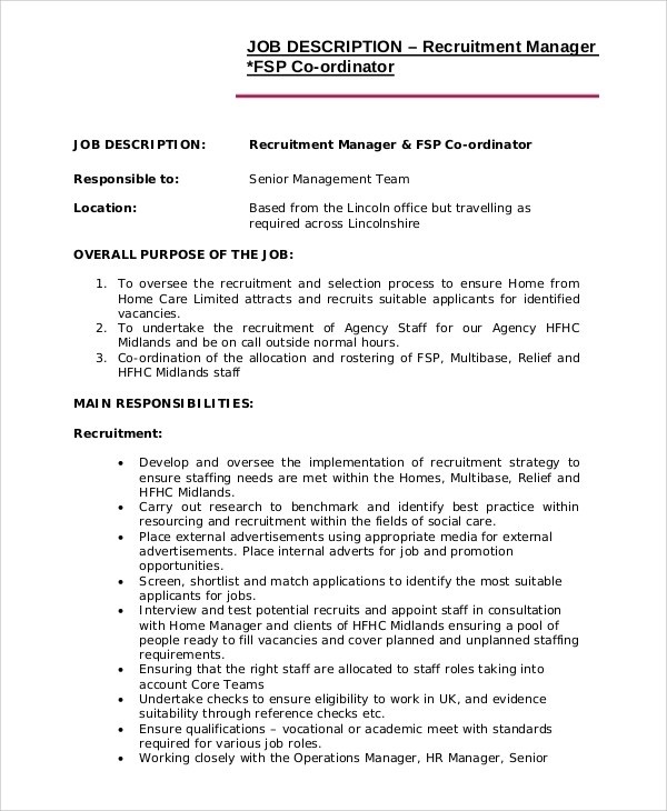 Cover letter examples for recruitment consultant job