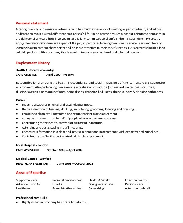 Caregiver Sample Resume. Resume For Caregiver Caregiver Sample