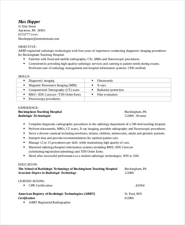 Sample Objectives For Resume 8 Examples In Word Pdf