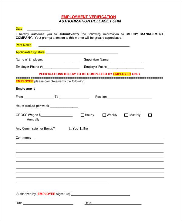 Employment Verification Form Template employment verification ez – Landlord Employment Verification Form