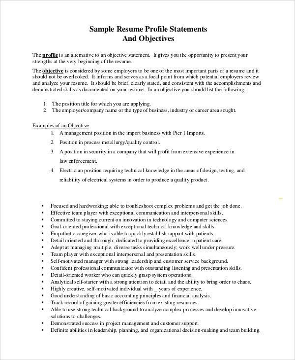 what is a good general objective statement for resume best good 2017