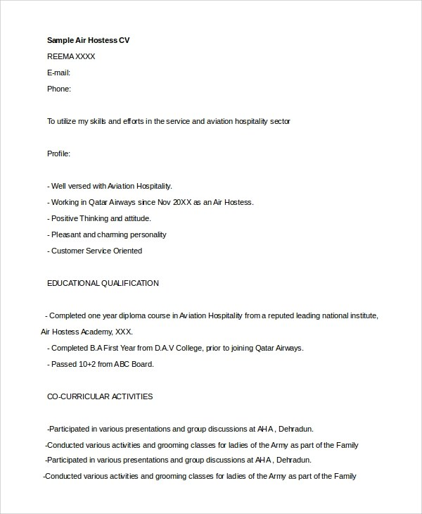 sample hostess resume 7 examples in word hostess resume objective
