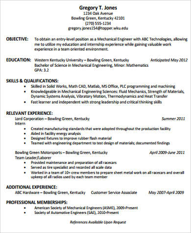 Sample College Graduate Resume 9 Examples In Word PDF