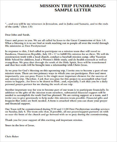 samples fundraising letters