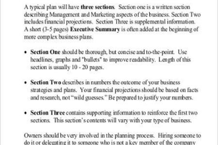 Financial Template For Business Plan Free Sample Business Plan - Example business plan template