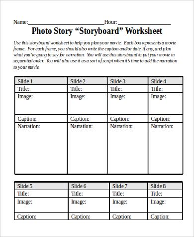 Storyboard Sample In Word