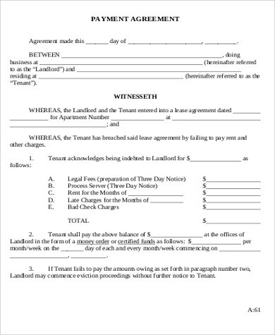 9+ Payment Agreement Form Sample - Free Samples, Examples ...