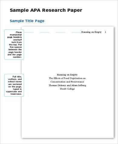 cover page for essay