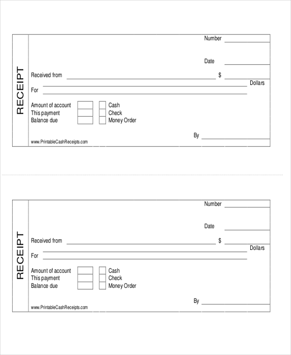 Cash Payment Receipt 7 Examples In Word Pdf