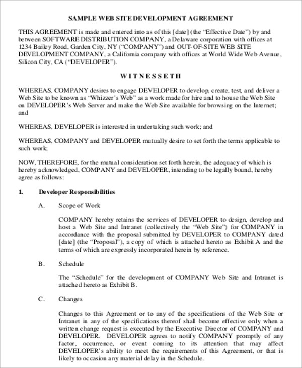 Simple Contract Agreement 13 Examples In Word PDF