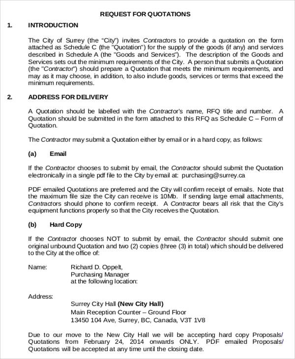 Sample Quotation Letter For Construction Work   Docoments Ojazlink