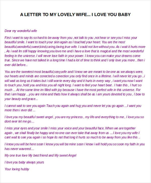 ... I Love You So Much Letter To My Husband The Best Letter 2017 ...