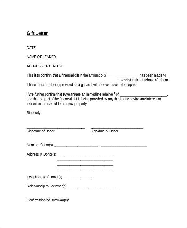 Gift Letter Example.How To Write Gift Letter Mamiihondenk Org