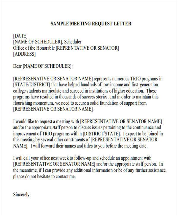 Employee meeting request letter invitationjpg business meeting request letter 30 formal request letters sample templates altavistaventures Choice Image