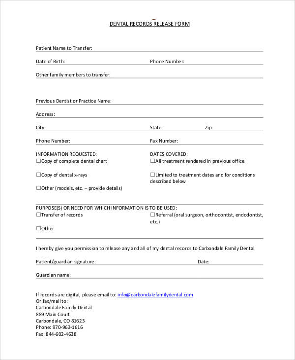 Hipaa Dental Records Release Form   Search And Download Free Form Templates  And Tested Template Designs. Download For Free For Commercial Or Non  Commercial ...