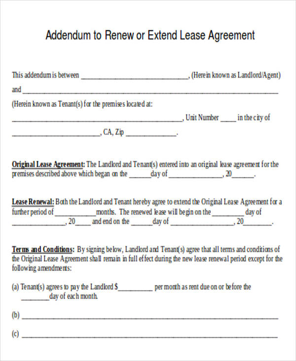 Lease Agreement Renewal Letter. Agreement Letter Formats