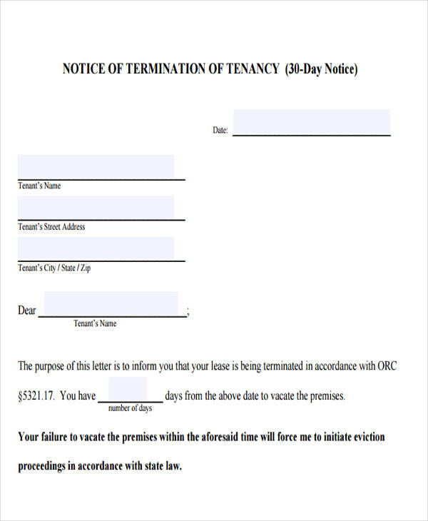 32 Eviction Notice Templates PDF Google Docs MS Word Apple Pages