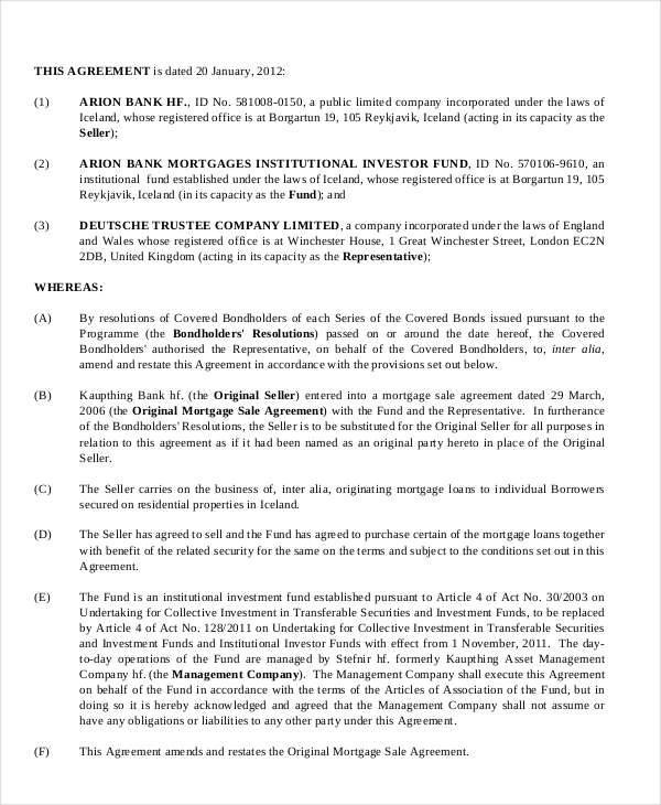 8 Mortgage Contract Samples Templates In PDF