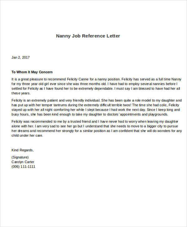 cover letter for nanny position nanny reference letter nanny job offer letter template bank cover letter for nanny position