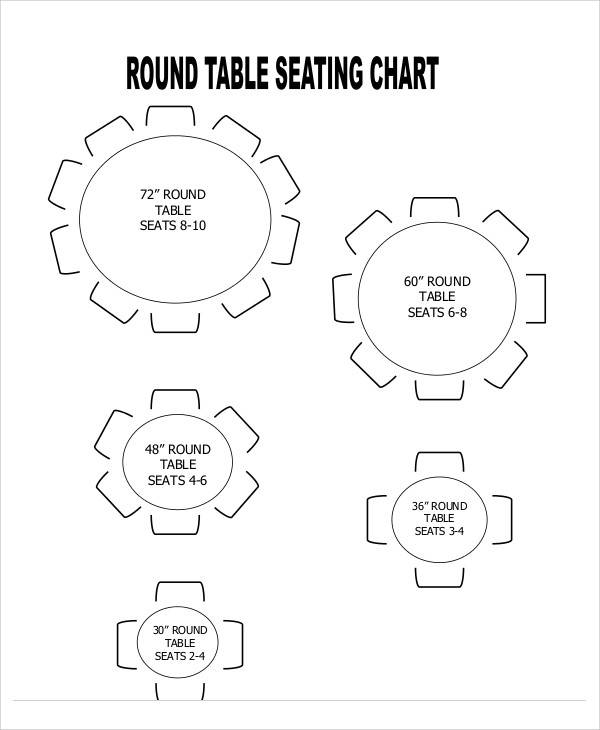 60 Round Table Seating Chart – Seating Chart Templates
