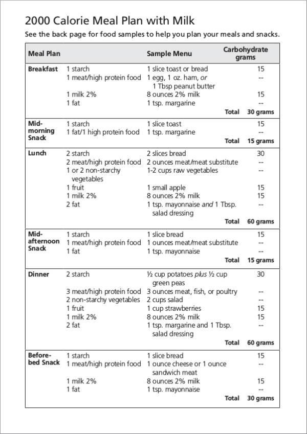Free 14 Printable Meal Planner Samples Templates Pdf