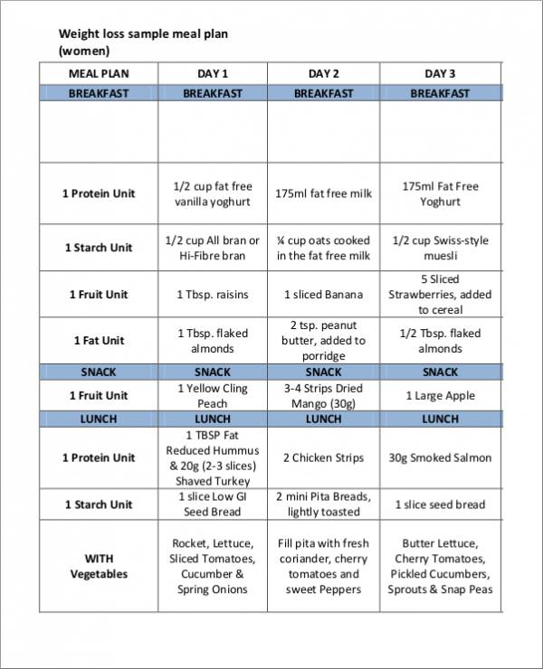 14 Printable Meal Planner Samples Amp Templates PDF