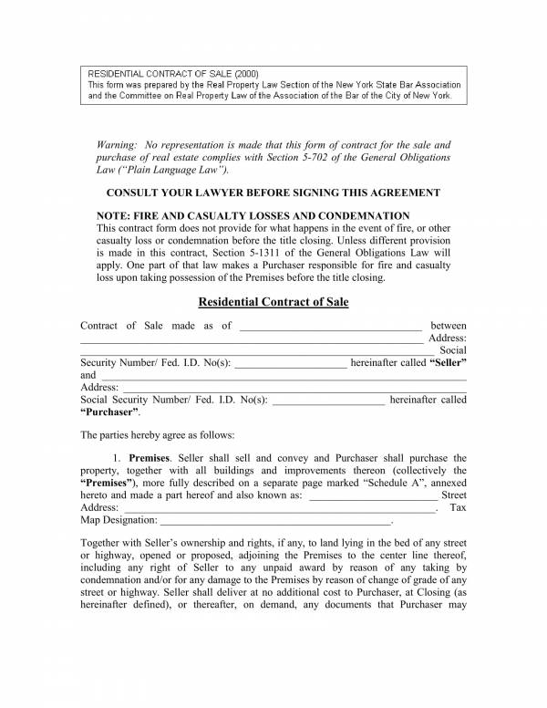 Free 11 Real Estate For Sale By Owner Contract Template In