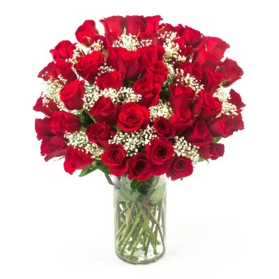 Hopelessly In Love Red Rose Bouquet 50 Stems Sams Club