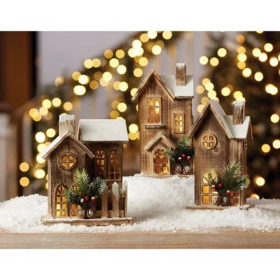 Members Mark 3 Piece Lighted Alpine Village Set Sams Club