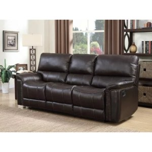 Leather Furniture   Sam s Club Member s Mark Buchanan Top Grain Leather Motion Sofa