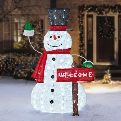 Members Mark 52 Snowman With Welcome Sign Sams Club