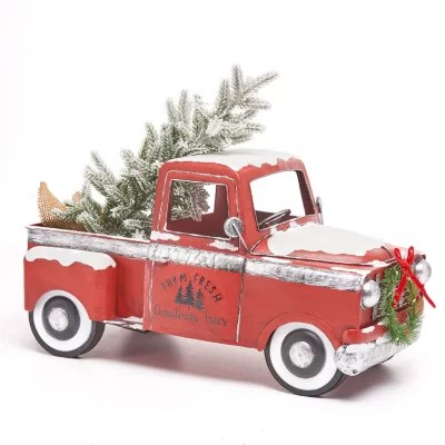 Members Mark Vintage Metal Truck With Lighted Accents